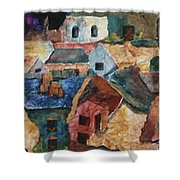 Rooftops Shower Curtain