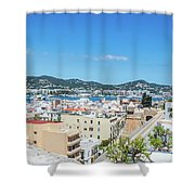 Rooftops Of Ibiza 4 Shower Curtain