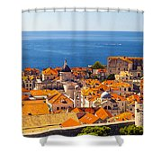 Rooftops Of Old Town Dubrovnik Shower Curtain