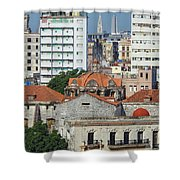 Rooftops Of Old Town Havana Shower Curtain