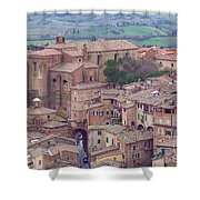 Rooftops Of Siena 2 Shower Curtain