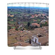 Rooftops Of Siena Shower Curtain