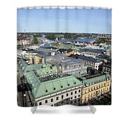 Rooftops Of Stockholm Shower Curtain