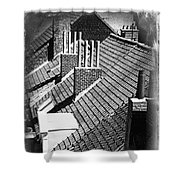 Rooftops Of Belgium Gothic Style Shower Curtain
