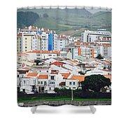 Rooftops Of Ponta Delgada Shower Curtain