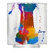 Rook Chess Piece Paint Splatter Shower Curtain