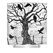 Rook Tree Shower Curtain