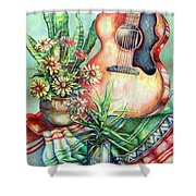 Room For Guitar Shower Curtain