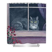 Room With A View Shower Curtain by Kathryn Riley Parker