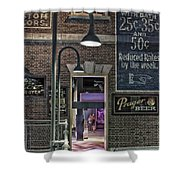 Rooms For Rent 25 Cents Signage Shower Curtain