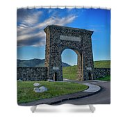 Roosevelt Arch At Yellowstone Dsc2522_05252018 Shower Curtain