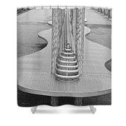 Roosevelt Island  Bench I Shower Curtain