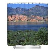 Roosevelt Lake - Panoramic Shower Curtain