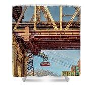 Roosevelt Tram Underneath The 59 St Bridge Shower Curtain