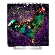 Rooster - Cockrell - Chicken Shower Curtain