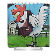 Rooster And Hen House Shower Curtain