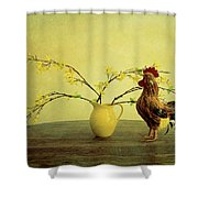 Rooster At Sunrise Shower Curtain
