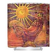 Rooster Batik Shower Curtain