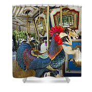 Rooster Coop Kids Ride Shower Curtain