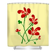 Rooster Flowers Shower Curtain
