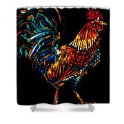 rooster  Gallo Giro Shower Curtain