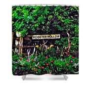 Rooster Hollow Shower Curtain