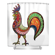 Rooster Mandala Shower Curtain