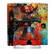 Rooster On The Door Whimsy Shower Curtain