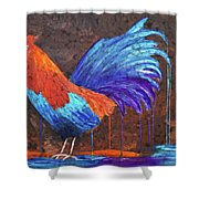 Rooster Painting Shower Curtain