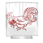 Rooster - Sign Of Chinese New Year Shower Curtain