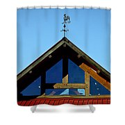 Rooster Weather Vane Shower Curtain