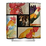 Roosters Shower Curtain