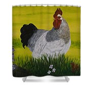 Roosty And Wild Flowers Shower Curtain