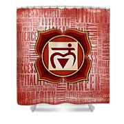 Root Chakra - Awareness Shower Curtain