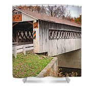 Root Rd Covered Bridge  Shower Curtain