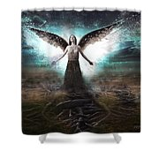 Rooted Angel Shower Curtain