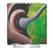 Rooted Energy Collection Shower Curtain
