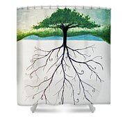 Roots Of A Tree Shower Curtain