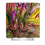 Roots In Pink Shower Curtain