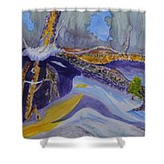 Roots Wide And Deep Shower Curtain
