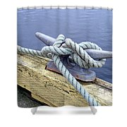Rope And Bollard Shower Curtain
