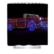 Rope Light Art 1957 Chevy Shower Curtain