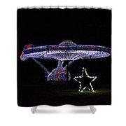 Rope Light Art Star Trek Enterprise Shower Curtain