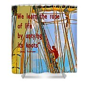Rope Of Life Shower Curtain