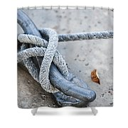 Rope On Cleat Shower Curtain
