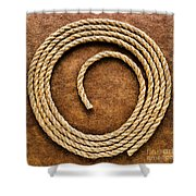 Rope On Leather Shower Curtain