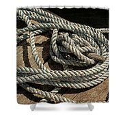 Rope On The Dock Shower Curtain