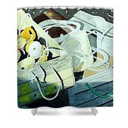 Ropes And Floats Shower Curtain