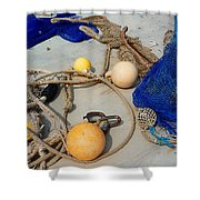 Ropes Nets And Bouys Shower Curtain