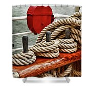 Ropes Of A Sailboat Shower Curtain